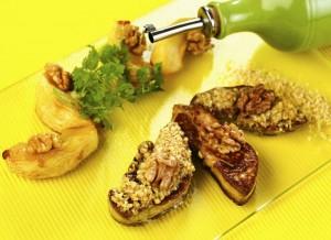 Foie-gras-pane- miel-et-chapelure-de-noix