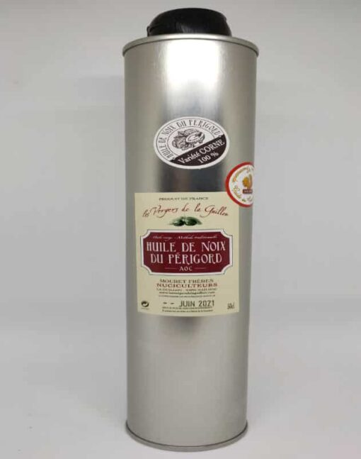 Huile Noix Bouteille Metal Bouchon Plastique 50cl